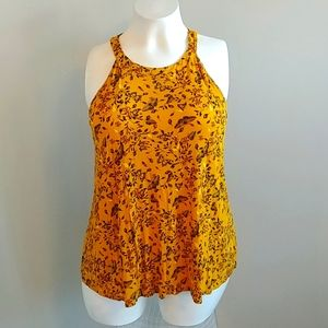 torrid Yellow Ochre Tank With Keyhole Back